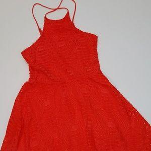 Xhileration Coral halter dress